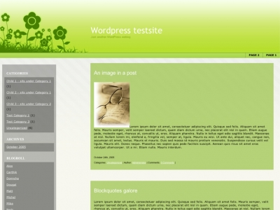 Green-Field WordPress theme thumbnail