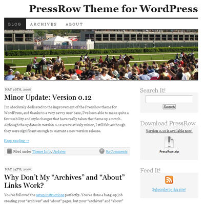 PressRow WordPress theme thumbnail