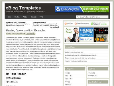 Click to enlarge Ads Theme Blogger template