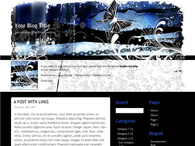Blue Grunge WordPress theme thumbnail