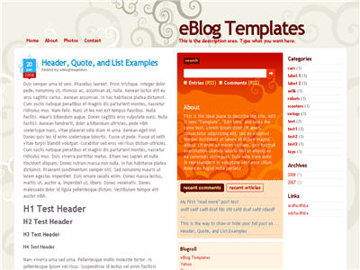 Click to enlarge Dilectio Blogger template