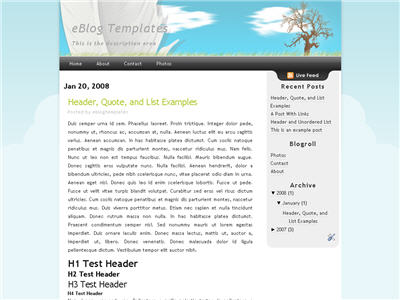 Click to enlarge Dreamy Blogger template