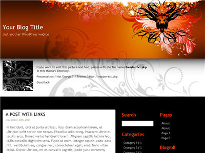 Hot Orange T WordPress theme thumbnail