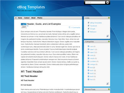 Click to enlarge iTheme Blogger template