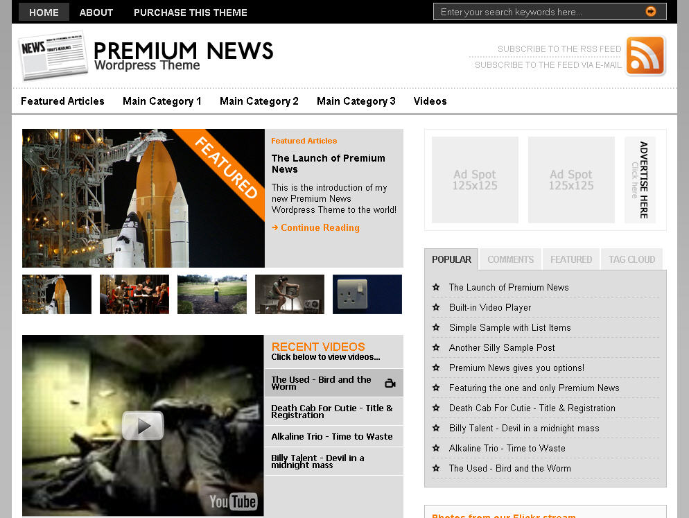 The Original Premium News - Premium WordPress Theme | eBlog Templates
