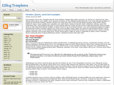 Click to enlarge SFDC Blogger Blogger template