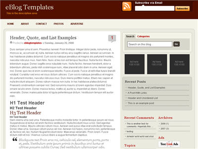 Click to enlarge WP Premium Blogger template