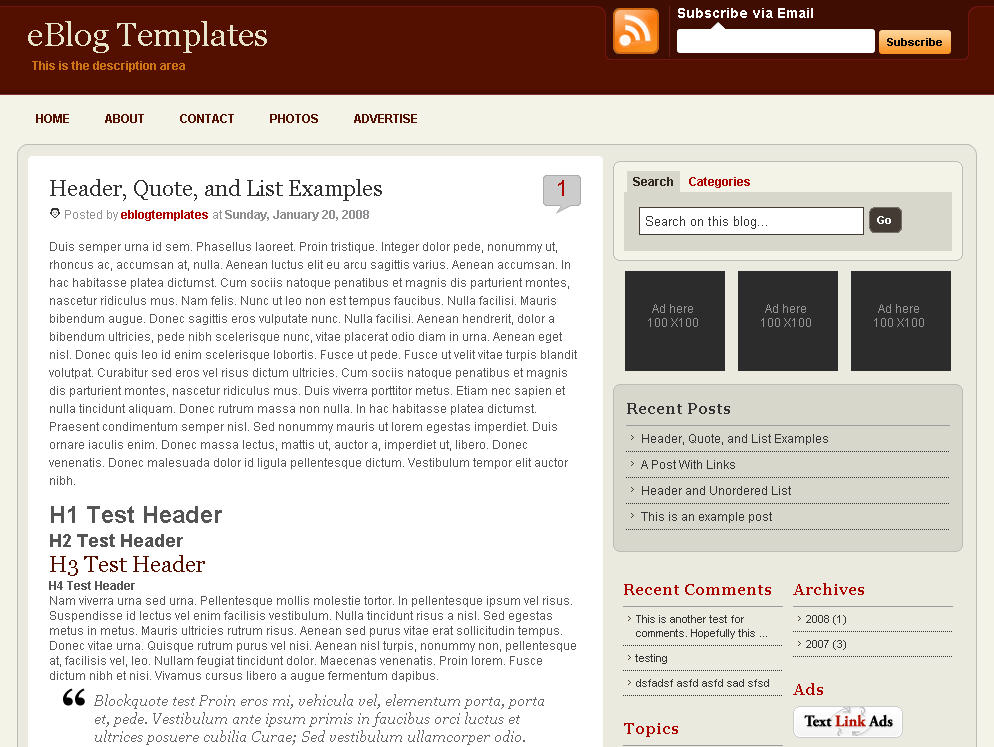 New xml 3 columns blogger template wp premium for Xml templates for blogger free download