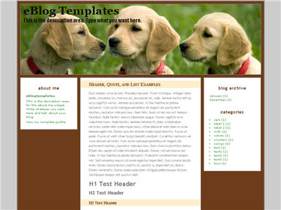 Yellow Puppies WordPress theme thumbnail