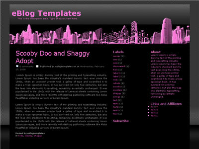 Big City Girl Blogger template thumbnail