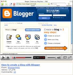 blogger youtube help video