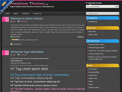 CMYK WordPress theme thumbnail