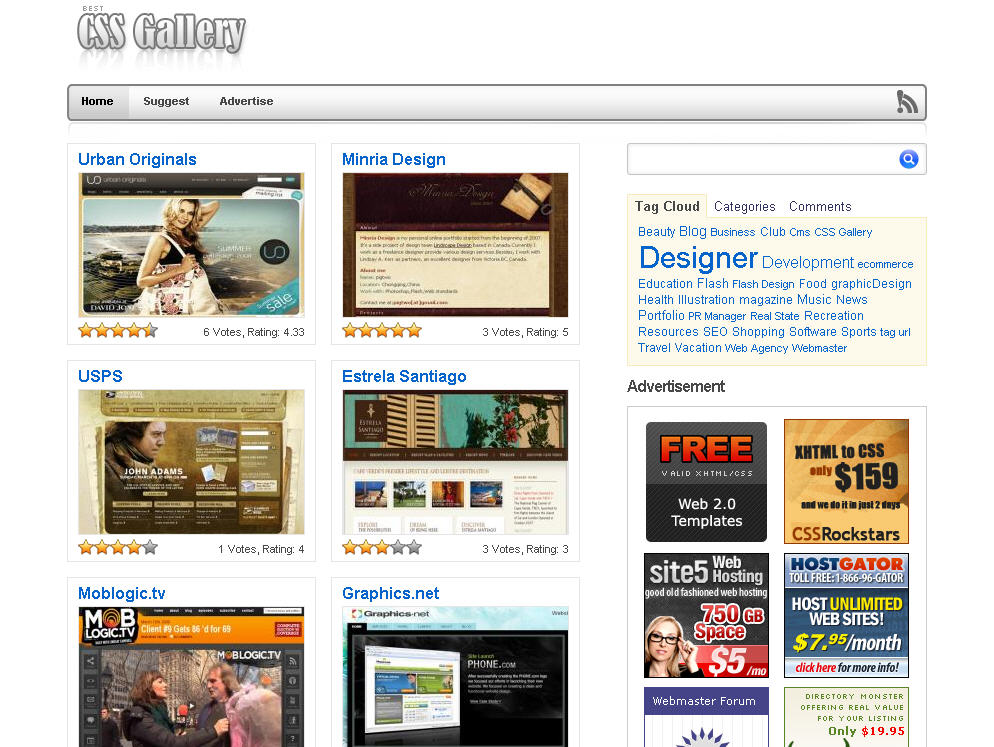 gallery templates