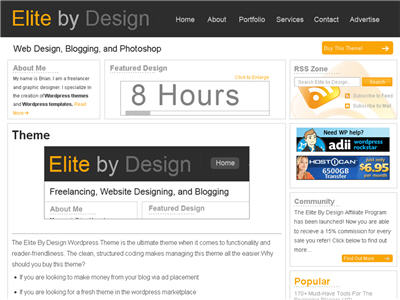 Elite By Design WordPress theme thumbnail