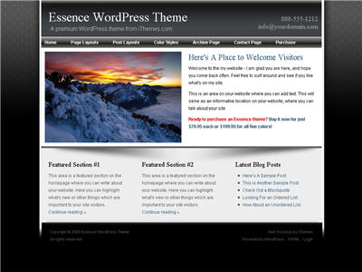 Essence Series WordPress theme thumbnail