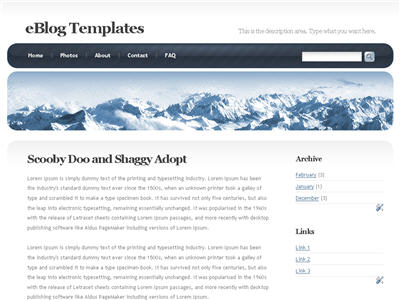 Frozen Age WordPress theme thumbnail