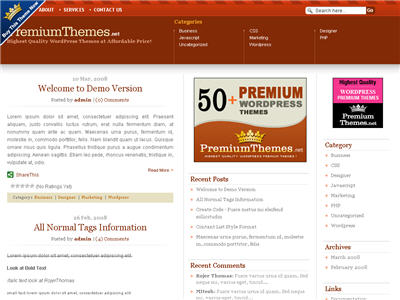 Influence WordPress theme thumbnail