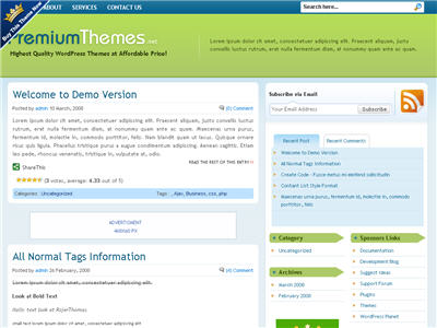 Organic WordPress theme thumbnail