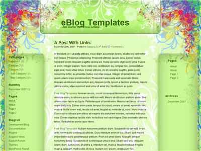Rainbow Garden WordPress theme thumbnail