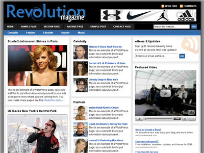 Revolution Magazine WordPress theme thumbnail