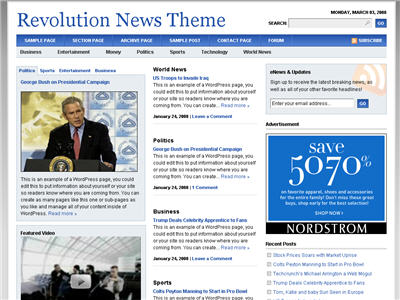 Revolution News WordPress theme thumbnail