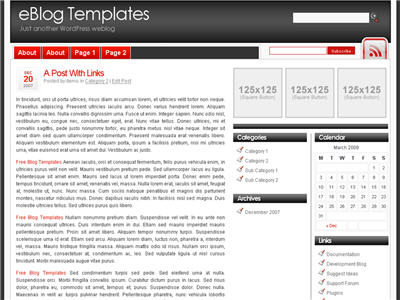 Simple Red WordPress theme thumbnail