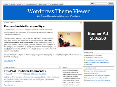 Simplicity 1.0 WordPress theme thumbnail