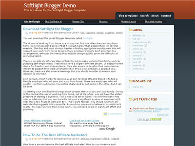 Click to enlarge Softlight Blogger template