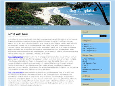 Premium Travel WordPress theme thumbnail