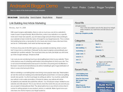 Andreas04 Blogger template thumbnail