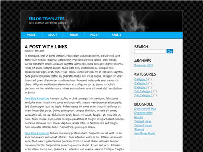 Blue Space WordPress theme thumbnail