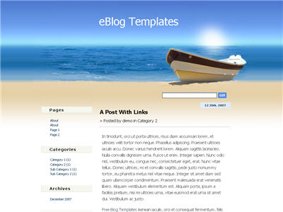 Boat WordPress theme thumbnail