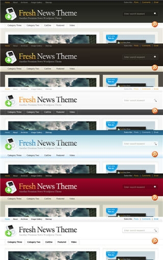 fresh news wordpress color scheme