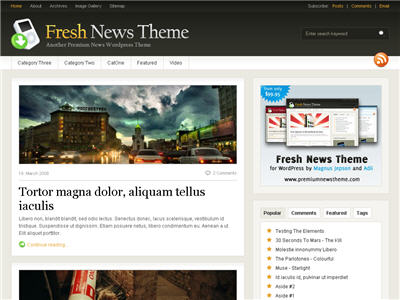 Fresh News WordPress theme thumbnail