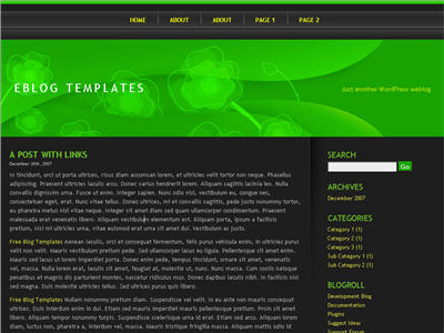 Green Mile WordPress theme thumbnail