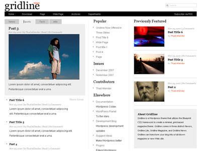 Gridline News WordPress theme thumbnail