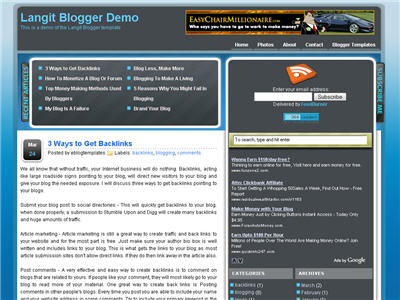 Click to enlarge Langit Blogger template