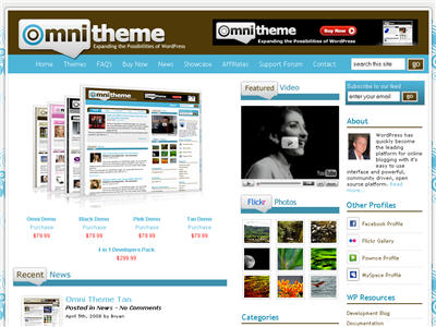 Omni WordPress theme thumbnail
