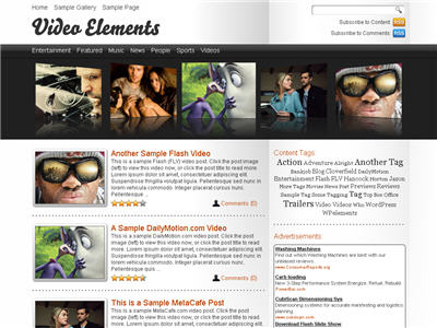 Video Elements WordPress theme thumbnail