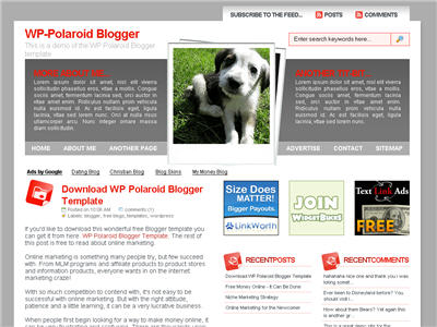 Click to enlarge WP-Polaroid Blogger Blogger template