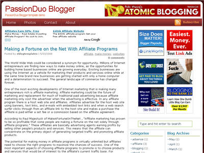 Click to enlarge PassionDuo Red Blogger template
