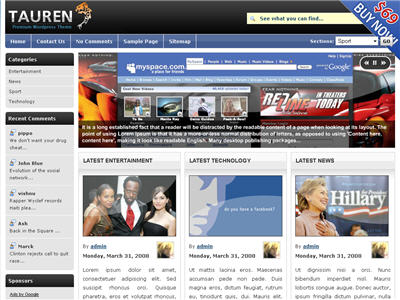 Tauren Pro WordPress theme thumbnail