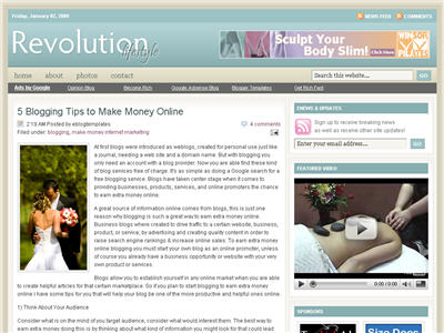 Revolution Lifestyle Blogger Blogger template thumbnail