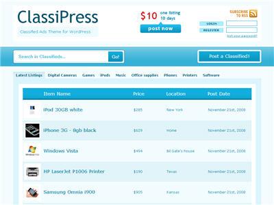 ClassiPress thumbnail